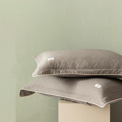 2020新款130*70纯色全棉单品枕套 48cmX74cm/一对 11雾雨