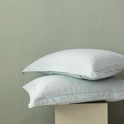 2020新款130*70纯色全棉单品枕套 48cmX74cm/一对 13月白