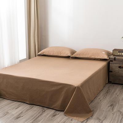 2020新款130*70纯色全棉单品床单 180cmx230cm 2山栗