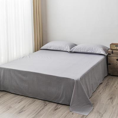 2020新款130*70纯色全棉单品床单 180cmx230cm 4白练