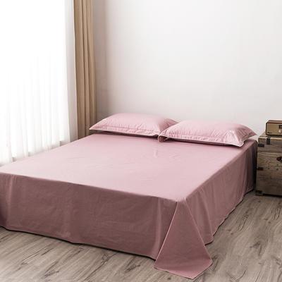 2020新款130*70纯色全棉单品床单 180cmx230cm 5胭脂
