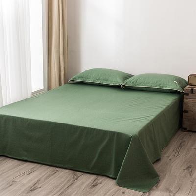 2020新款130*70纯色全棉单品床单 180cmx230cm 10松叶