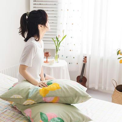 2020新款全棉印花单品枕套 48cmX74cm/对 桃香满园