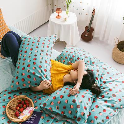 2020新款全棉印花单品床笠 150cmx200cm 小草莓 绿