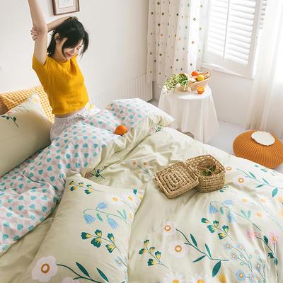 2020新款全棉印花单品床单 180cmx230cm 兰亭浅语 绿