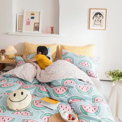 2020新款全棉印花单品床单 180cmx230cm 西语