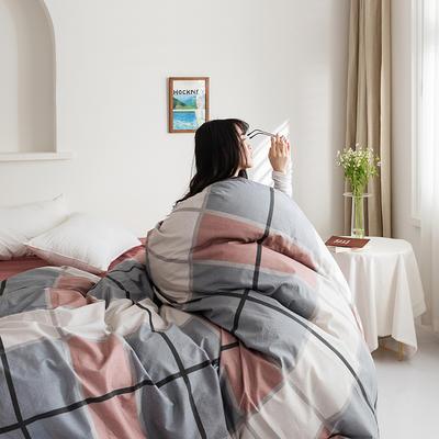 2020新款全棉印花单品被套 160x210cm 摩卡 红
