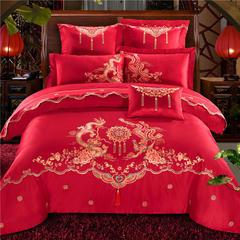 纯棉龙腾凤舞4-7件套 1.5m(5英尺)床 四件套床单款