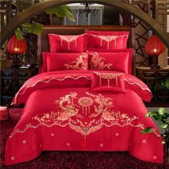 纯棉龙腾凤舞4-7件套 1.8m(6英尺)床 六件套床单款