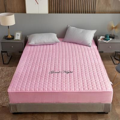 2020新款全棉抗菌防螨床笠 0.9m单床笠 粉色