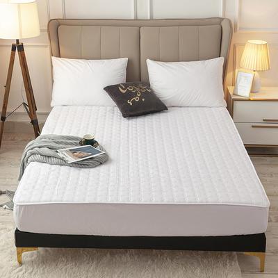 2020新款-印花夹棉床笠 90*200cm 气质白