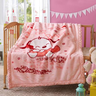 卡通拉舍尔双层加厚保暖冬季婴儿毯小孩子童毯宝宝珊瑚绒毯子 105*135 爱丁森堡
