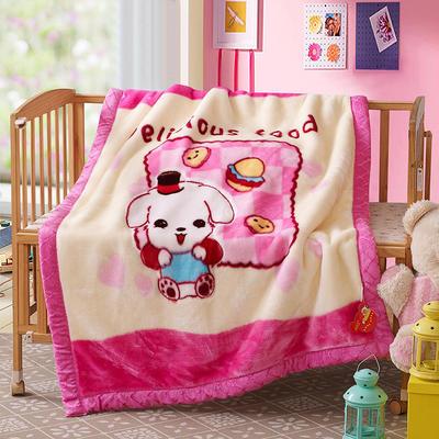 卡通拉舍尔双层加厚保暖冬季婴儿毯小孩子童毯宝宝珊瑚绒毯子 105*135 公主日记