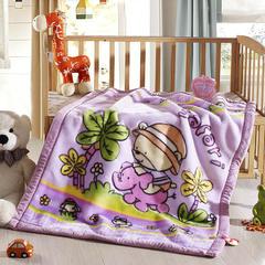 卡通拉舍尔双层加厚保暖冬季婴儿毯小孩子童毯宝宝珊瑚绒毯子 105*135 童话王国