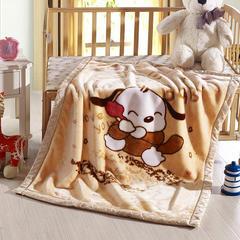 卡通拉舍尔双层加厚保暖冬季婴儿毯小孩子童毯宝宝珊瑚绒毯子 105*135 狗狗联盟