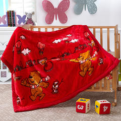 卡通拉舍尔双层加厚保暖冬季婴儿毯小孩子童毯宝宝珊瑚绒毯子 105*135 可爱妮妮