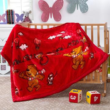 卡通拉舍尔双层加厚保暖冬季婴儿毯小孩子童毯宝宝珊瑚绒毯子