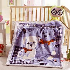 卡通拉舍尔双层加厚保暖冬季婴儿毯小孩子童毯宝宝珊瑚绒毯子 105*135 小熊宝贝
