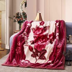 卡通拉舍尔毛毯双层加厚保暖毛巾被学生宿舍秋冬珊瑚绒盖毯1.5 150*200CM 神秘庄园