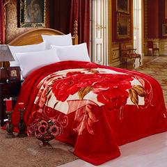 宫喜毯业   超柔交织拉舍尔毛毯9斤 200*230 玫瑰庄园