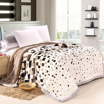 拉舍尔毛毯双层加厚秋冬季盖毯被子学生单双人珊瑚绒毯