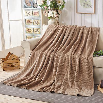 纯色贝贝绒毯子 150cmX(范围200-220)cm 咖啡色