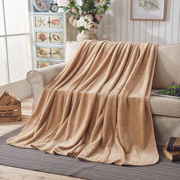 纯色贝贝绒毯子