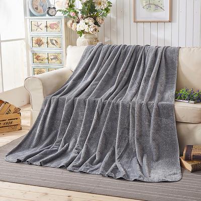 纯色贝贝绒毯子 150cmX(范围200-220)cm 灰色
