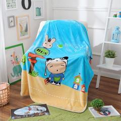 超柔儿童卡通盖毯双层加厚三角针定位版厂家直供网销批发一件代发 100cmx140cm 旅行1