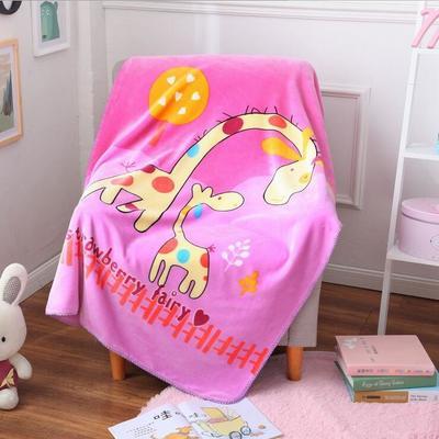 超柔儿童卡通盖毯双层加厚三角针定位版厂家直供网销批发一件代发 100cmx140cm 紫色小鹿