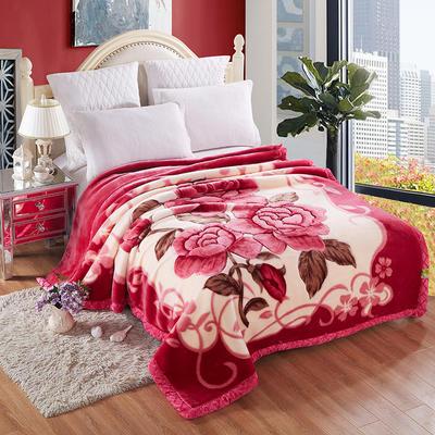 拉舍尔毛毯双层加厚秋冬季盖毯被子学生单双人珊瑚绒毯 220cmx240cm12斤 缘香