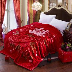 拉舍尔毛毯双层加厚秋冬季盖毯被子学生单双人珊瑚绒毯 150X200cm5斤 大喜