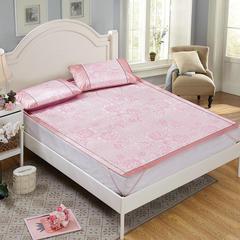提花无纺布冰丝席 1.2m(4英尺)床 芬芳花语粉
