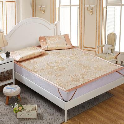 提花无纺布冰丝席 1.5m(5英尺)床 芬芳花语金