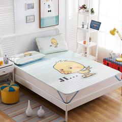 大版花印花冰丝席 1.5m(5英尺)床 小黄鸡