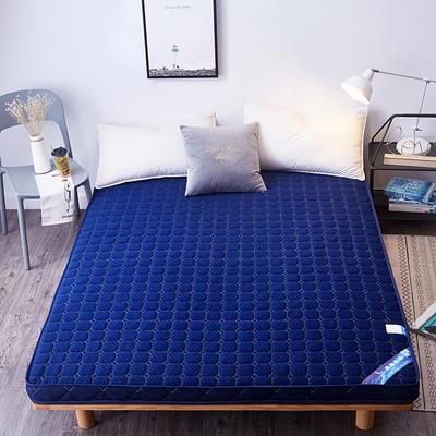 2019新款立体5D,4D,法莱绒床垫 0.9m 立体针织蓝色