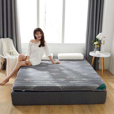 2019新款乳胶加海绵床垫-加厚6厘米 0.9m 草冷灰