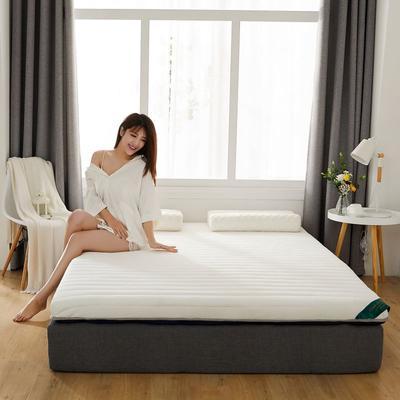 2019新款乳胶加海绵床垫-加厚6厘米 0.9m 皎月白