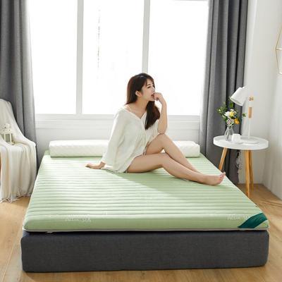 2019新款乳胶加海绵床垫-加厚6厘米 0.9m 豆蔻绿