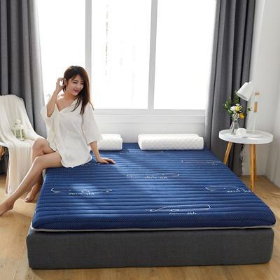 2019新款乳胶加海绵床垫-加厚10厘米 0.9m 深海蓝