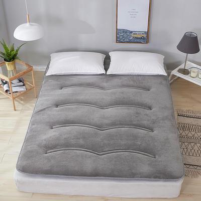 2019新款针织绗缝床垫 0.9m 双面法莱绒灰色