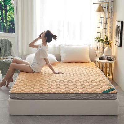2020新款全棉乳胶海绵(立体)床垫 0.9*2.0m 橙色-5cm