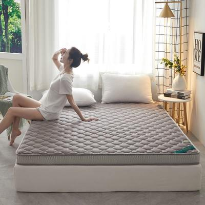 2020新款全棉乳胶海绵(立体)床垫 0.9*2.0m 浅灰色-5cm