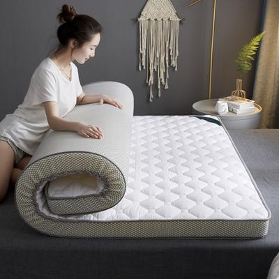 2020新款全棉乳胶海绵(立体)床垫 0.9*2.0m 白色-9cm