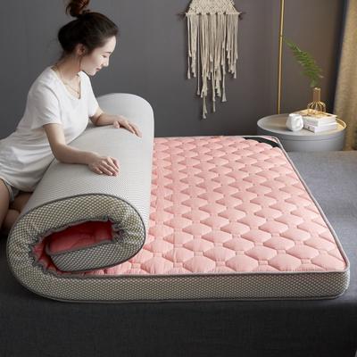 2020新款全棉乳胶海绵(立体)床垫 0.9*2.0m 粉色-9cm
