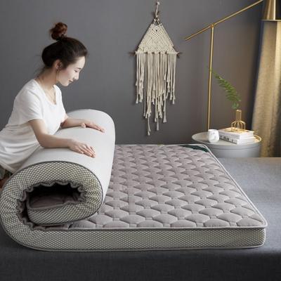 2020新款全棉乳胶海绵(立体)床垫 0.9*2.0m 深灰色-9cm