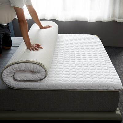 2020新款全棉大豆纤维抗菌床垫-成人款 0.9*1.9m 白色