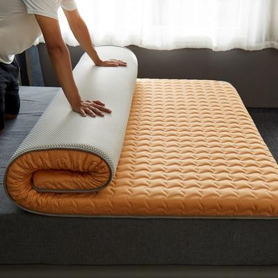 2020新款全棉大豆纤维抗菌床垫-成人款 0.9*1.9m 橙色