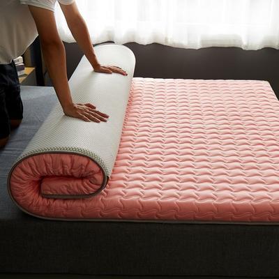 2020新款全棉大豆纤维抗菌床垫-成人款 0.9*1.9m 粉色
