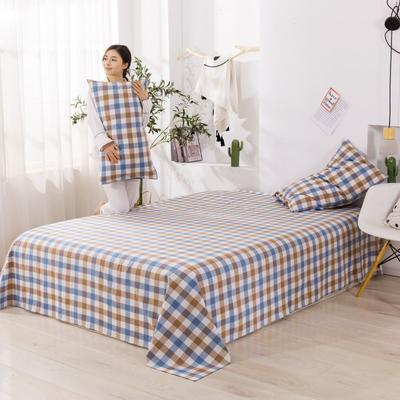 2020新款无印风全棉色织水洗棉单品床单 1.2m床--160*230cm 富士格-兰